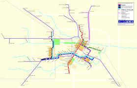 Houston Proposed Light Rail Map 2012 Houston Transit System Map Houston Tx Usa Mappery