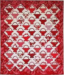 Quilt Inspiration: Basket Quilts Part I & Here's an adorable Cherry basket quilt, made from a variety of luscious red  fabrics. For a traditional Cherry basket look, Lisa has pieced one large  wide ... Adamdwight.com