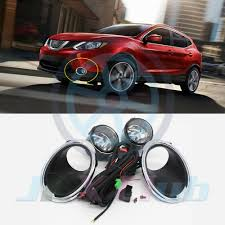 Details About For Nissan Rogue Sport 2017 2019 Fog Light Lamp W Bulb Switch Harness Cover 1set
