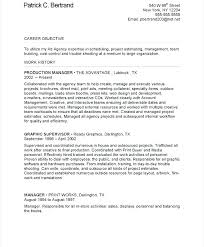 Manager Resume Objective New Career Objective For Marketing Resume Manager Resume Objective