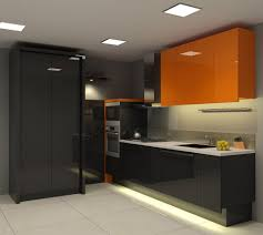 Modern Kitchen Idea Contemporary Kitchen Decorating Ideas Displaying Black Gloss Small