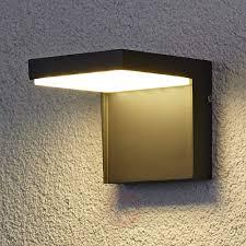 modern rachel led outdoor wall light aluminium lightscouk