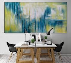 Abstrakt Xxl öl Gemälde Petrol Gelb Kaufen Kunstloft