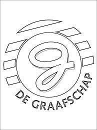 Kleurplaat Bv De Graafschap Logo Gratis Kleurplaten