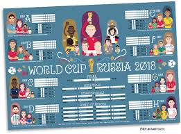 World Cup Planner Chart 2018 Quinkyart World Cup Russia 2018 Wallchart