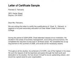 Resume Responsibilities Service Certificate Sample Letters Resume