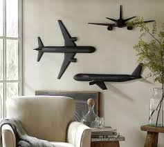 image of antique airplane wall decor