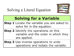 5 solving for a variable step