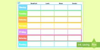 Printable Weekly Meal Planner Juanbruce Co