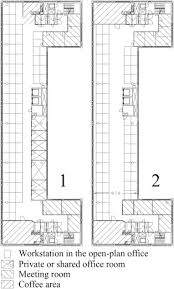 office room plan. The Layout Change On 3rd Floor In Phases 1 And 2. Several Work Rooms Were Replaced By An Open-plan Office. Number Of Office Desks Changed Room Plan