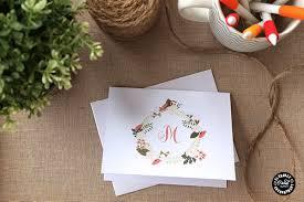 Free Printable Note Cards Free Printable Monogram Notecards