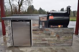 traeger built in. Fine Built Outdoor Kitchen For The Traeger Pellet Grill We Custom Build Any Grill  Or Area Call Today Your Quote 5038314677 Sunset  Intended Built In T