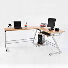 homcom 3pc l shaped corner desk student computer workstation home office study 763250276723