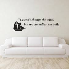 Adjust The Sails Quote Wall Decal Wall Decal World Unique Wall Decals Quotes