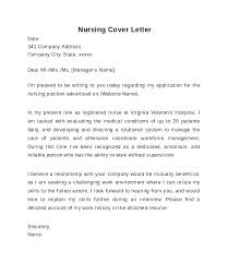 Cover Letter Examples For Nurses New Nurse Cover Let Marvelous Cover