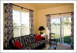 sliding door with this black and white natural patterned cartridge curtain 6
