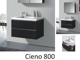 mirror effect furniture. 80 Cm Hanging Bathroom Cabinet, Mirror Gray Wood Effect - CIENO 800 Furniture S