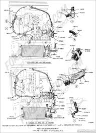 ford truck technical drawings and schematics section f heating 1971 F100 Hose Diagram air conditioning hoses (engine compartment) 1968 1972 f100 f350 w integral a c 1969 F100