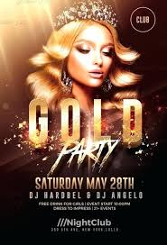 Gold Party Flyer Template Download Poster Psd Movie Free 2