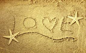 love letters in the sand wallpaper