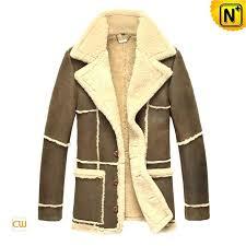 brown fur coat mens fur leather trench coat brown fur collar coat mens