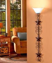 americana wall lamp scrolling metal hearts star warm remote