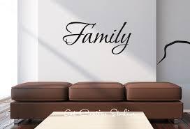 Wall Writing Decor Family Wall Decal Home Decor Sticker Text Wall Art Script