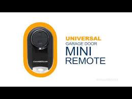 garage door opener remote universalProgramming the Chamberlain Universal Mini Garage Door Remote