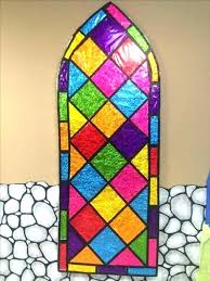 faux stained glass kits stained glass window kit faux kits close up photo of windows colored