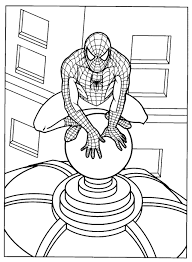 Small Picture Spiderman Coloring Pages