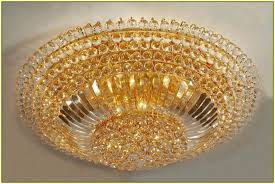 flush mount crystal chandelier lighting home design ideas