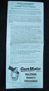 Gunmate Holster Chart Genuine Gunmate Hip Holster Belt Loop Rh Size 06 Medium