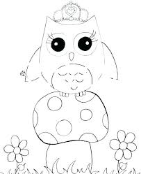 Cute Owl Coloring Sheets Survival Cute Owl Coloring Pages Free