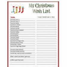 Printable Christmas Gift List Template 43 Printable Christmas Wish List Templates Ideas