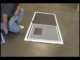 installing the screen guard pet door by