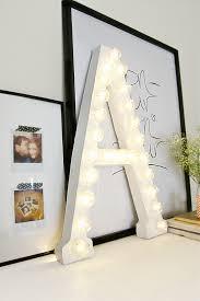 diy lighted letter for decoration