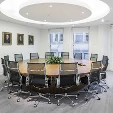 large round boardroom tables