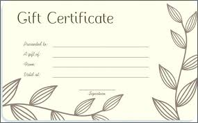 Gift Certificate Printable Free Free Online Gift Certificate Template Email Powerpoint