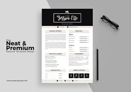 Free Neat And Premium Resume Template Design In Illustrator Ai