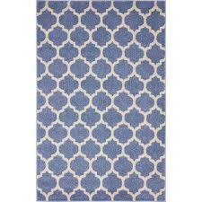 trellis light blue 4 x 6 rug