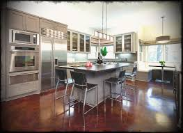 open kitchen designs with island. Luxurious Open Kitchen Design Idea With Gray Cabinet And Island Black Stools Painted Concrete To Strive Designs