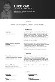 Organizer Resume samples