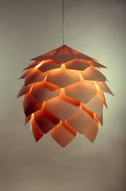 wood hanging light