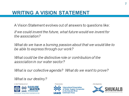 How do you write a vision statement