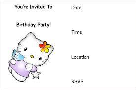 Free Printable Birthday Party Invitations Hello Kitty Download