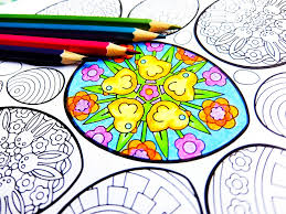 Easter Eggs Printable Coloring Page Pdf By Candy Hippie