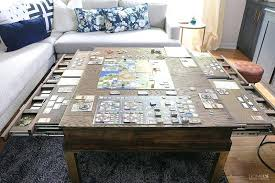 diy board game table coffee table with pullouts diy board game table reddit