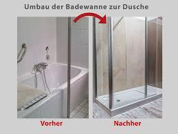 Wanne Zur Dusche Badewanne Raus Dusche Rein Bad Teilsanierung