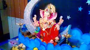 home ganpati decoration 2015 bhavik rathod youtube