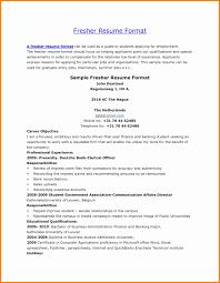 Resume Fresher format Luxury Sap Basis Resume format for Freshers Bongdaao .
